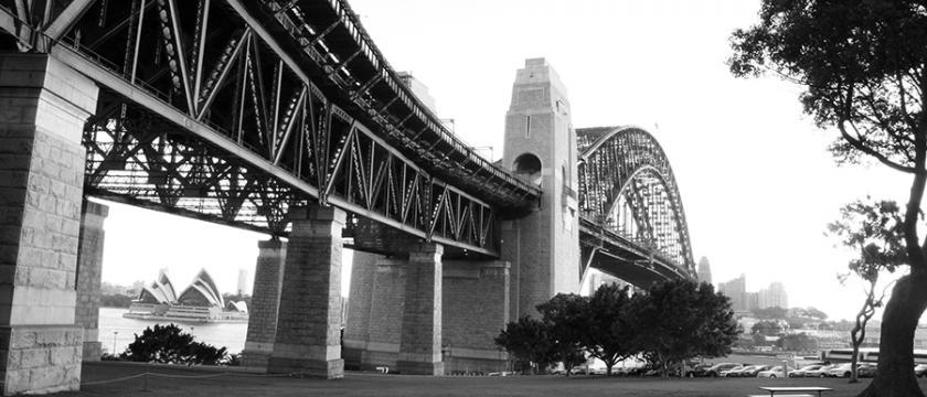 One of the world's greatest engineering masterpieces; Sydney Harbour Bridge. Courtesy Damith Herath.