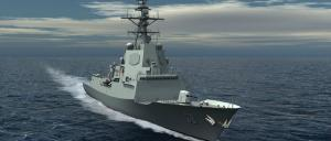 A computer generated image of the proposed Air Warfare Destroyer to be built in Adelaide, melbourne and Newcastle. Image: Department of Defence