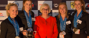 The Athena 'Subs In Schools' National Champions with Federal Assistant Minister for Science, Karen Andrews.