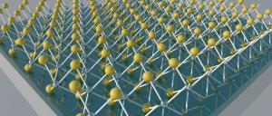 An optical nanocavity made, from top to bottom, of molybdenum disulfide (MoS2), aluminum oxide and aluminum. Image: University of Buffalo