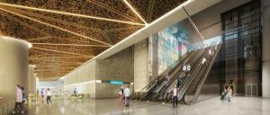 An artist's impression of what the CBD North Station could look like. Image: MMRA