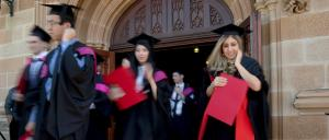 Engineering graduates at the University of Sydney. Photo: Michele Mossop