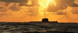 HMAS Sheean, a Collins-class submarine, during exercises near Christmas Island. Photo: Department of Defence