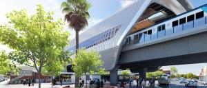An artist's impression of the new Murrumbeena Station. Image: LXRA