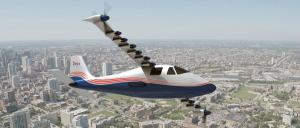 Artist's impression of the X-57 Maxwell shows its specially designed wing and 14 electric motors. Image: NASA Langley/Advanced Concepts Lab