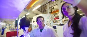 Researchers in CSIRO's chemistry laboratory in Melbourne.