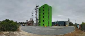 This six-storey structure in San Diego is ready to be shaken. Photo: UCSD