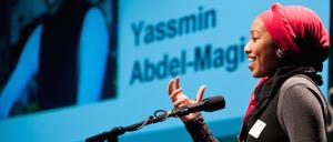 Mechanical engineer, Yassmin Abdel-Magied, is comfortable on an oil rig, under the hood of a race car, on the red carpet and chairing international conferences.