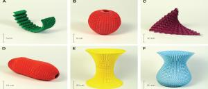 Shapes created using the Miura-0ri fold. Image: Harvard Engineering