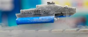 A model of a levitating vehicle - one of the application areas of high temperature superconducting technology. Photo: Siemens