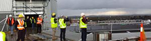EA members enjoy the view from the hospital helipad