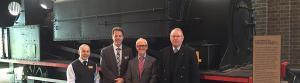 Photo L to R:  National Councillor, Murray Thompson; Newcastle Division President, Michael van Koeverden; EA National President, David Cruikshanks-Boyd and Bill Jordan, Heritage Committee at Newcastle Museum.