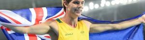 James Turner waves the Australian flag after his victory in Rio. Photo: Australian Paralympic Committee
