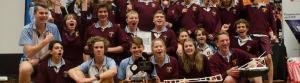 St Mary's celebrates its win at the Science and Engineering Challenge in Hobart. Photo: Science and Engineering Challenge